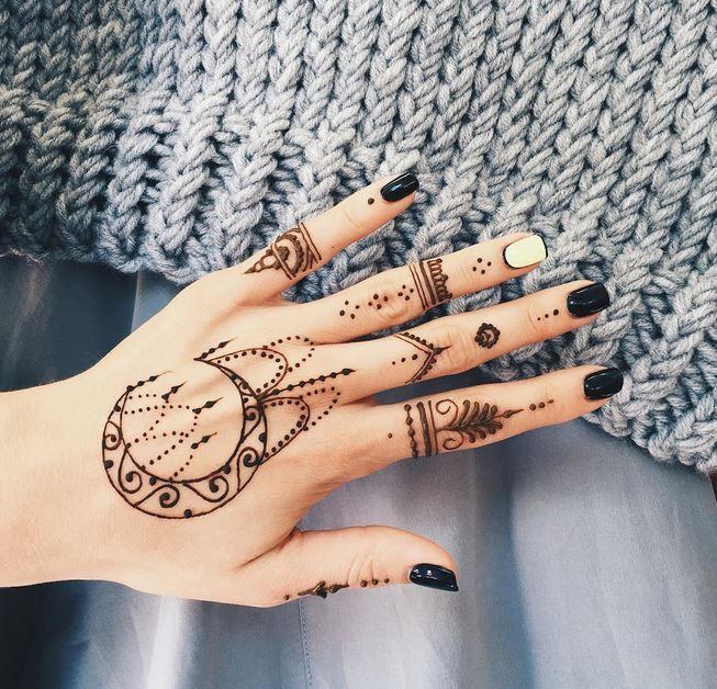 Desain Henna Yang Cukup Unik Dan Keren
